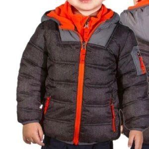 SNOZU Kids Winter Puffer Fleece Coat Sz. 3T
